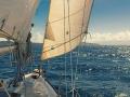 Sailing from Utila to Roatan Honduras