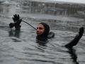 Scuba diving in winter